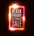 black friday ultimate sale discount background vector image vector image