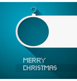 Blue Abstract Merry Christmas Background vector image vector image