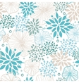 blue and gray plants seamless pattern background