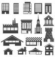 Building symbols vector image vector image