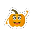 cartoon yellow pepper happy vegetable cut line vector image
