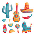 cinco de mayo mexican set vector image vector image