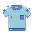 clean shirt style design icon vector image