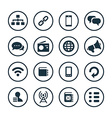 communication icons universal set vector image vector image