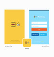 company secure network splash screen and login vector image