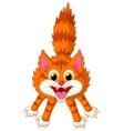 Cute cat cartoon screaming vector image
