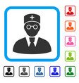 doctor framed icon vector image vector image