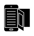 e-book - online reading icon vector image