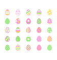easter food flat line icons set painted eggs egg vector image vector image
