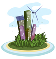 energy city vector image