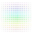 exit direction icon halftone spectral grid vector image vector image