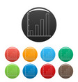 finance chart icons color set vector image vector image