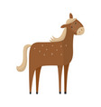 flat brown horse icon vector image vector image