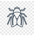 fly concept linear icon isolated on transparent vector image