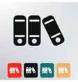 folders with documents icon vector image