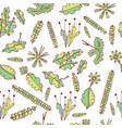 forest moss and leaves seamless pattern vector image vector image