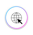 go to web icon isolated on white background globe vector image vector image