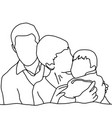 happy family sketch hand drawn with vector image vector image