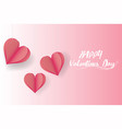 happy valentines daypaper cut style background vector image
