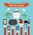holidays tours time to travel design modern flat vector image vector image