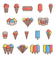 ice-cream icons vector image