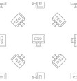 internet social media pattern seamless vector image