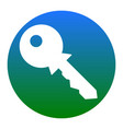 key sign white icon in vector image vector image