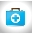 kit first aid medicine emergency service vector image vector image