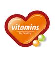logo orange check mark vitamins vector image