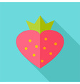 Lovely sweet strawberry vector image vector image
