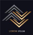 Luxury Abstract logo vector image