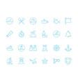 marine icon nautical symbols sailing knot rope vector image
