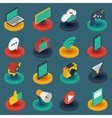 Media Isometric Icons On Round Bases vector image vector image