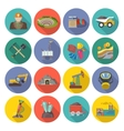 Mining Icons Flat vector image vector image