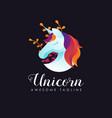 modern colorful unicorn logo vector image