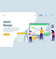 modern flat web page design template vector image vector image