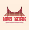 new york city creative typography poster concept vector image
