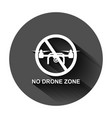 no drone zone sign icon in flat style vector image