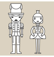 Nutcracker Soldier And Ballerina vector image vector image