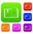 open book set collection vector image vector image
