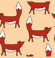 pattern with cute foxes kids vector image