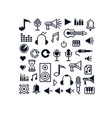 Pixel icons isolated collection of 8bit music