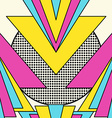 Retro 80s geometric pattern background vector image vector image