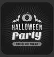 Retro Vintage Halloween Badge Black and White vector image