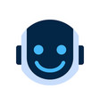 robot face icon smiling face emotion robotic emoji vector image vector image