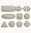 rock circle button stone banner stony frames vector image