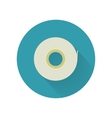 Scotch Tape Icon in Flat Style Design vector image