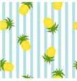 seamless striped pineapple geometric pattern vector image vector image