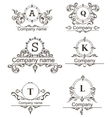 Set Luxury Logos vector image