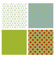 set of cards patterns at the background vector image vector image